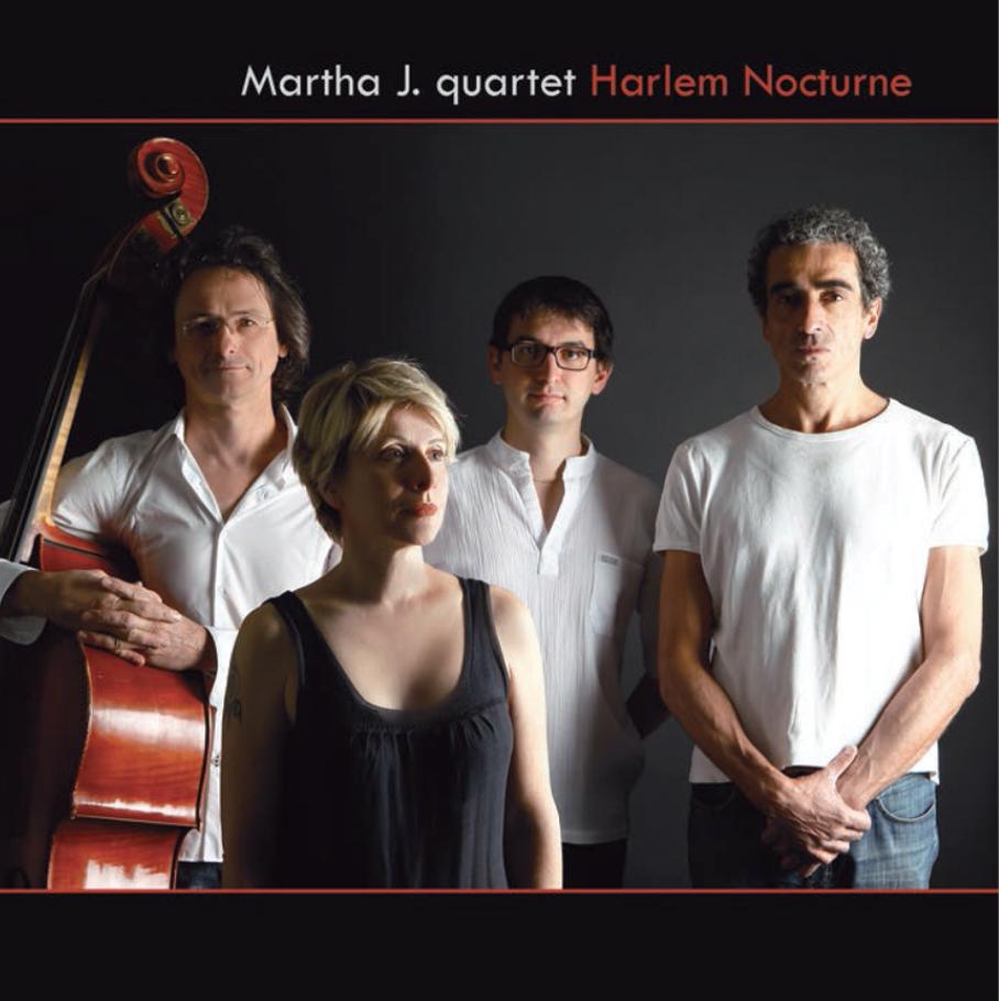 copertina disco harlem nocturne di martha J. jazz singer e Francesco Chebat pianista jazz